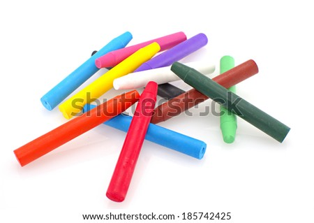 Crayons over white background #185742425