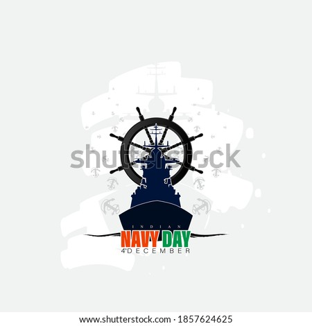 Vector illustration of Indian navy day. Indian national celebration. poster, banner. Royalty-Free Stock Photo #1857624625