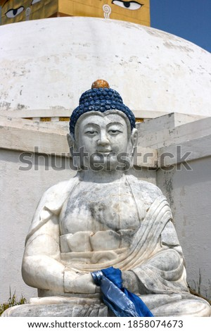 Budda sculpture in amarbayasgalant Monastery in northern Mongolia. One of three largest Buddhist monastic centers in Mongolia in Iven Valley. #1858074673