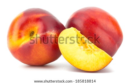 Nectarine fruit isolated on white background #185818814