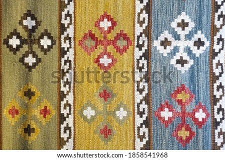 ethnic authentic local motif carpet rug Detail macro shot Abstract pastel interesting different different angles Patterns motifs background images buying now