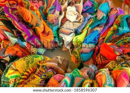 Bolivia - Traditional and colorful artesany Royalty-Free Stock Photo #1858596307