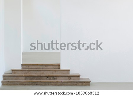 An interior view of an empty art gallery