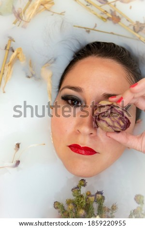 Milk bath flower photography picture