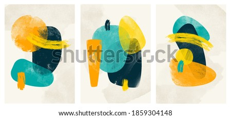 Wall art watercolor minimalistic abstract art background . Abstract design doodles various shapes. modern art isolated vector graphic. minimalistic geometric frames hand drawn, vector illustration Royalty-Free Stock Photo #1859304148