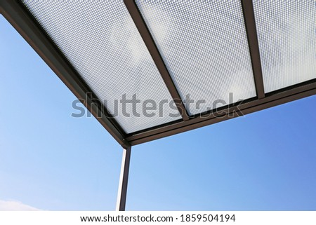 High quality canopy respectively carport Royalty-Free Stock Photo #1859504194