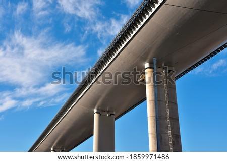 the new highway bridge (san giorgio) genoa italy Royalty-Free Stock Photo #1859971486