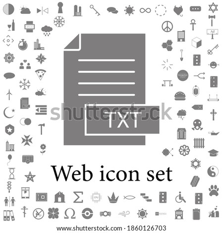 format file txt icon. web icons universal set for web and mobile