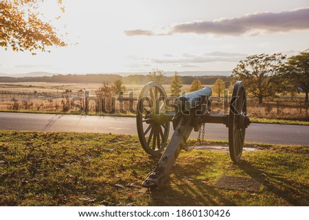 Battlefield at Sunset, Gettysburg National Historical Park Royalty-Free Stock Photo #1860130426