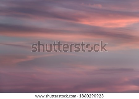 Cloud in the sky at sunset texture background. Pink, blue and gray abstract shades. True high resolution photography