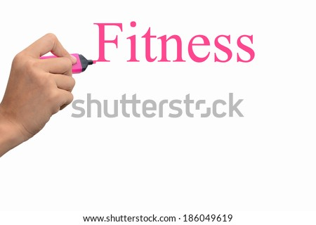 Business hand writing Fitness concept  #186049619