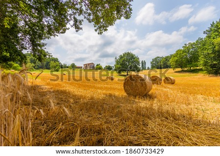 A beautiful summer day in the countryside of France Royalty-Free Stock Photo #1860733429