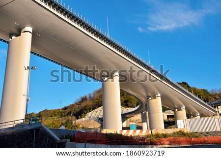 the new highway bridge (san giorgio) genoa italy Royalty-Free Stock Photo #1860923719