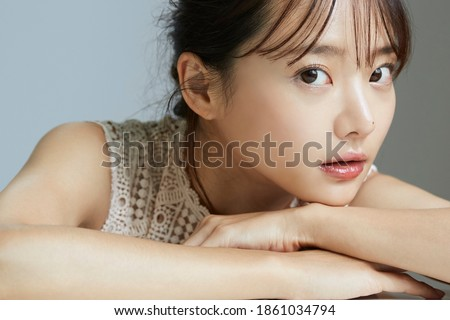 Natural beauty portrait of young Asian woman Royalty-Free Stock Photo #1861034794