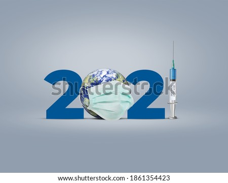 Vaccine for COVID-19 in 2021 is closer to reality. COVID-19 Vaccine. vaccine against coronavirus disease 2019 will be available on 2021. 2021-new year with corona virus vaccine concept. #1861354423