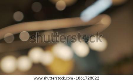 Defocused Bokeh Restaurant Store Light Royalty-Free Stock Photo #1861728022