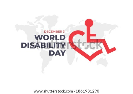 International Day of Persons with Disabilities, disabled week - 3 December  Royalty-Free Stock Photo #1861931290