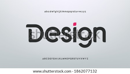 modern creative alphabet. Future fonts style. Typography uppercase and lowercase fonts. vector illustration Royalty-Free Stock Photo #1862077132