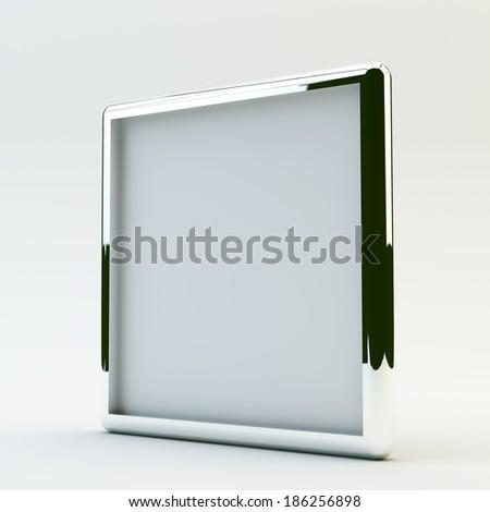 blank box display new design aluminum frame template for design work,isolate on white background. #186256898