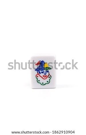 Joker card in white background