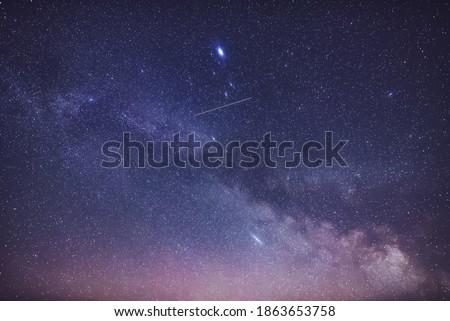 Milky Way  in the night sky.