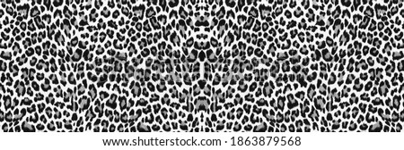 Leopard fur background. Leopard skin texture. Leopard print. Background with a pattern of leopard spots, safari background, banner design. #1863879568