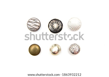 Decorative Colorful Vintage Sewing or Scrapbook Buttons Royalty-Free Stock Photo #1863932212