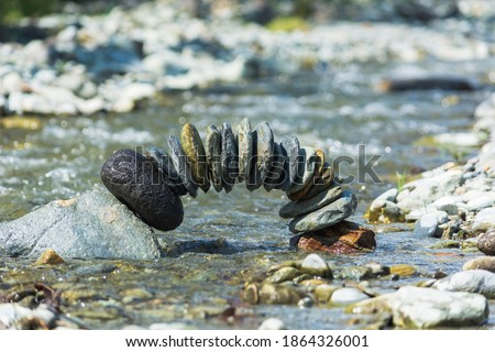 Balance of stones in the river