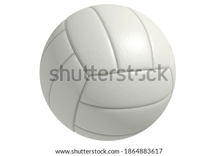 Volleyball white ball on a white background. A sport played by people all over the world.