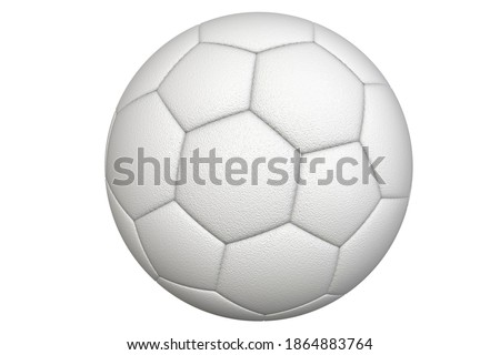 White soccer ball on a white background. A sport played by people all over the world.