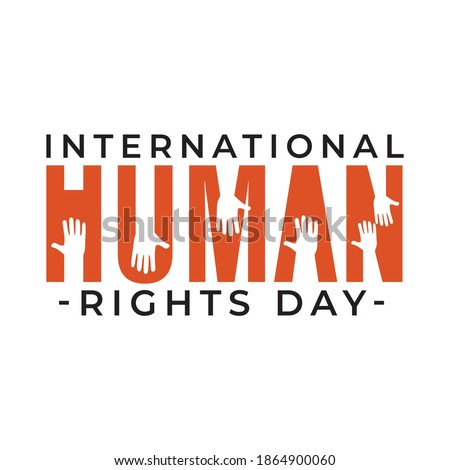 Design for celebration the Human Rights Day with recover better - stand up for human right theme. Web banner for social equality. Royalty-Free Stock Photo #1864900060
