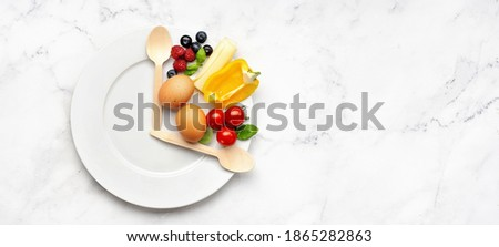 Interval fasting diet concept on white Royalty-Free Stock Photo #1865282863