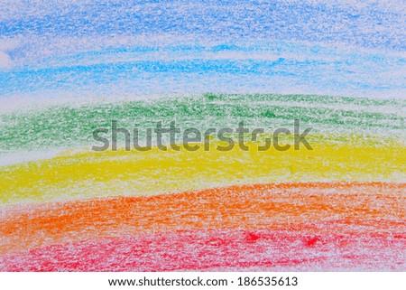 Pastele Pencil Color Rainbow Background
