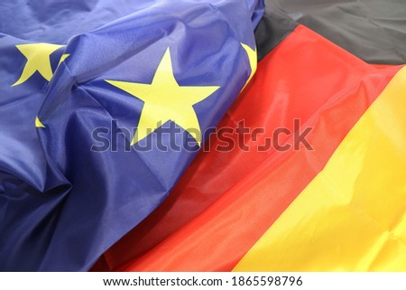 Symbol picture: German and european flag