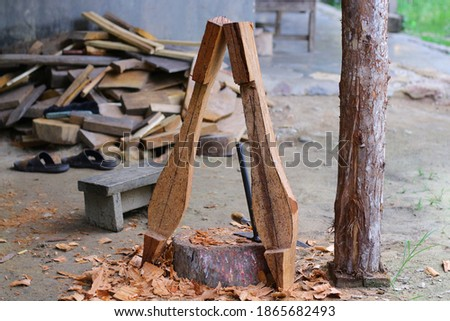 lute craft instrument. Making traditional Batak musical instruments, Hasapi musical instruments #1865682493