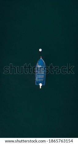 Fisherman boat under sea, algarve, portugal