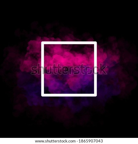 Pink and purple smoke black background 3d illustration 3d rendering