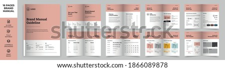 Brand Manual Template, Simple style and modern layout Brand Style , Brand Identity, Brand Guideline, Guide Book Royalty-Free Stock Photo #1866089878