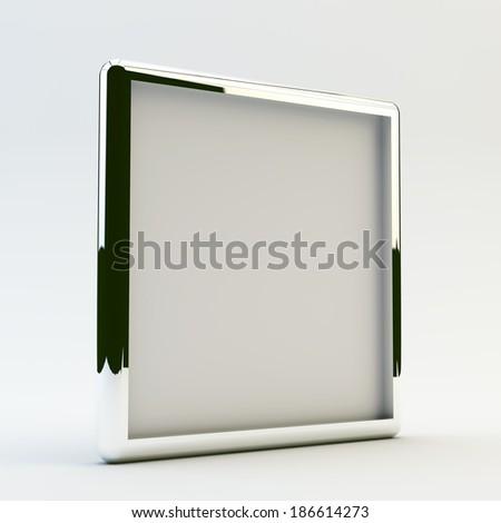 blank box display new design aluminum frame template for design work,isolate on white background. #186614273