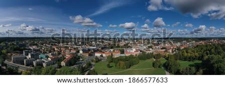 Vilnius panorama view from Tauro Kalnas Royalty-Free Stock Photo #1866577633