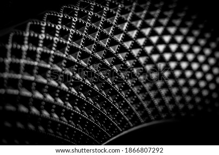 Black and white geometric curve Royalty-Free Stock Photo #1866807292