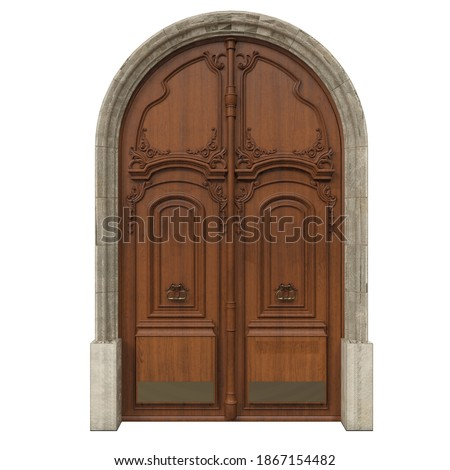 Classic door for beautiful houses Royalty-Free Stock Photo #1867154482