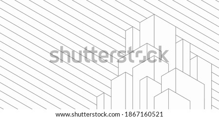 Abstract geometric technological background. Architectural construction. Vector creative design. Royalty-Free Stock Photo #1867160521
