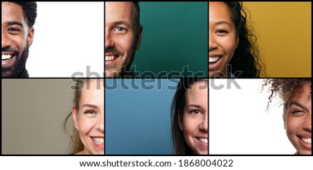 Beautiful people in front of a colored background