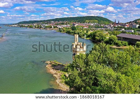 The mouse tower is a sight of the city of Bingen am Rhein