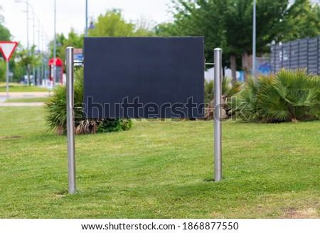 parking sign on the lawn