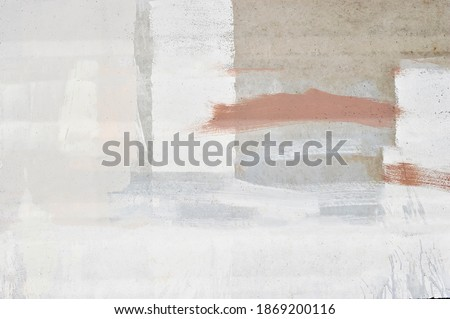 Concrete wall art ideas for the background. Old cement walls with converted marks painted in black and white mixed together.