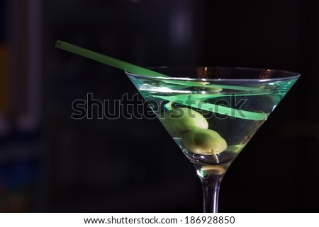 alcohol drinks on bar. cocktail #186928850