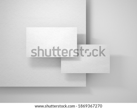 Simple Business Card and Letterhead Mockup Royalty-Free Stock Photo #1869367270