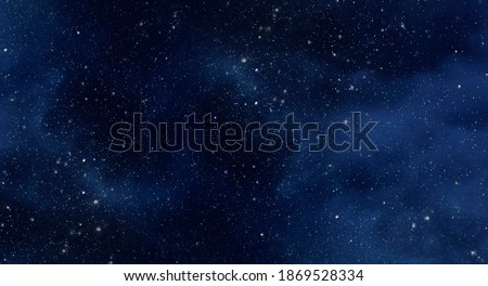 Large picture of starry sky with constellation, night sky as texture or background Royalty-Free Stock Photo #1869528334